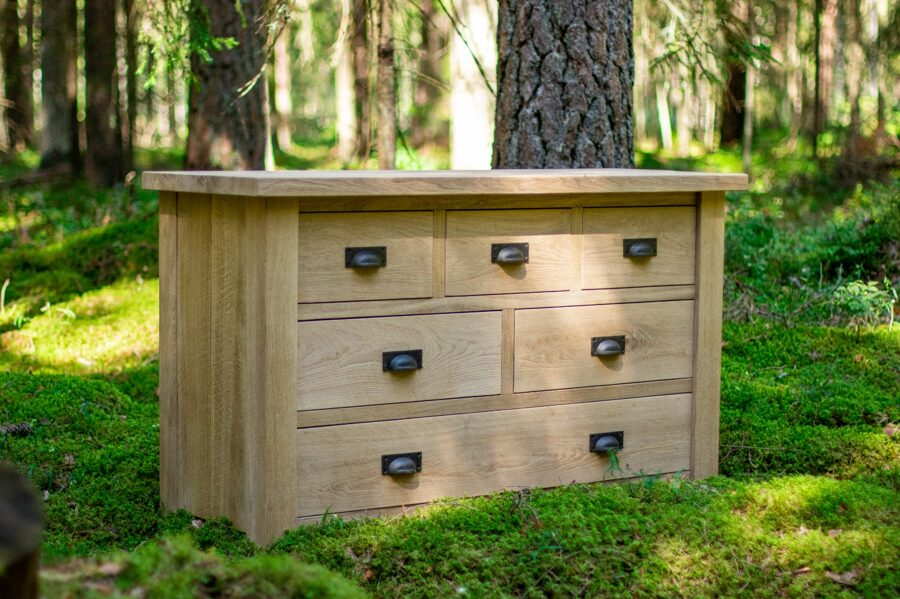 "Chest of drawers ""EVEREST 3/2/1"" (oak)"